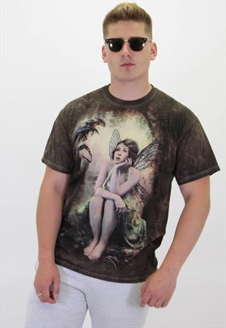 VINTAGE ANGEL GRAPHIC T-SHIRT