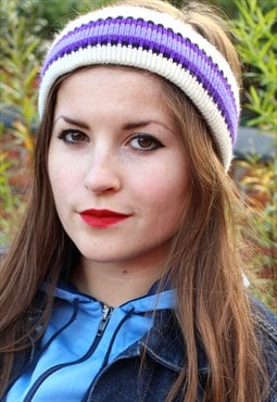 Vintage 90s Ski Headband - FESTIVAL - One Size Fits All