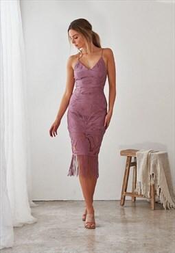 Khaleesi Dress -Dusty Purple pretty bridesmaid dress