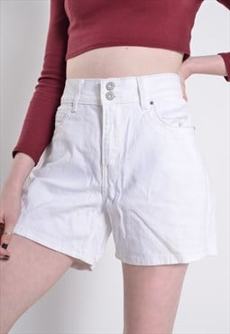 Vintage Levis Denim Shorts White 34