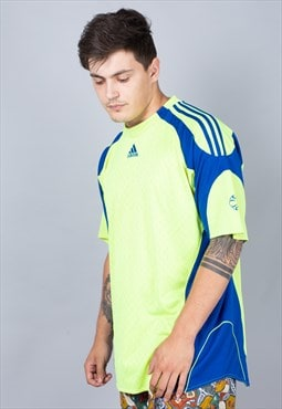 Vintage Lime  Adidas Football Shirt