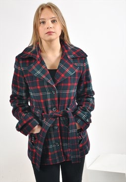 Vintage trench checked coat