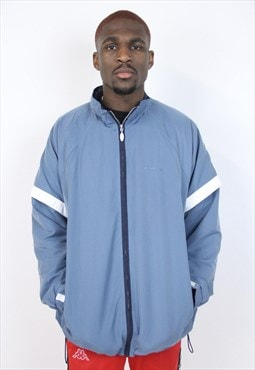 Vintage 90's Asics Misty Blue Sports Jacket
