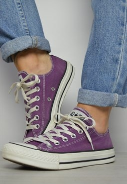 Vintage 90s Converse Purple Ox Shoes Grunge Retro Preppy