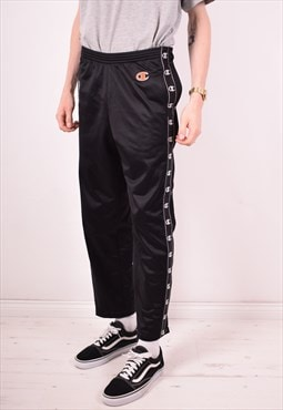 Champion Mens Vintage Tracksuit Trousers Small Black 90s