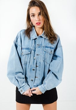 Vintage 80s Wrangler Basic Light Wash Denim Jacket / 7499