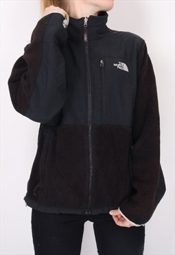 The North Face - Black Embroidered Denali Fleece Jacket - Me