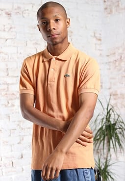 Vintage Lacoste Logo Polo Shirt Orange