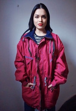 90s Vintage Pink Insulated Jacket