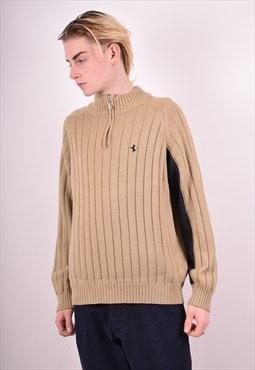 Fila Mens Vintage Ferrari Jumper Sweater XL Brown 90s