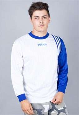 Vintage Blue and White Adidas Football Shirt
