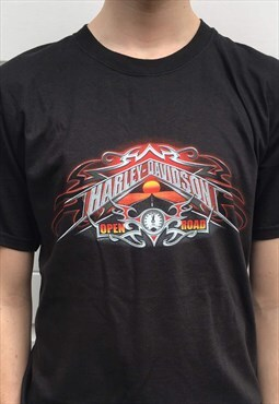 Mens Harley Davidson tshirt black motorcycle bike tee top