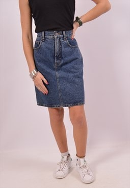 Vintage Espirit Denim Skirt Blue