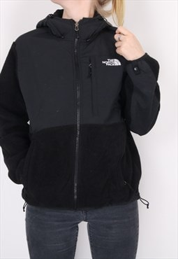 The North Face - Black Embroidered Denali Fleece Jacket with