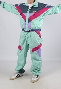 "Vintage SNOW GRIMP Full Ski Suit Snow TALL L / XL 44"" (ADK)"