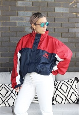 Vintage 1990s Helly Hansen red white and blue jacket