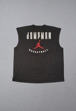 Vintage Nike Jordan Jumpman Basketball Vest Black XL