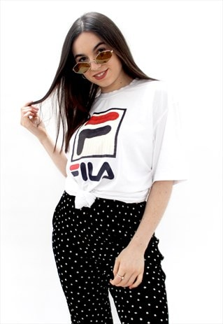 90'S RETRO WHITE SPELL-OUT OVERSIZED T-SHIRT