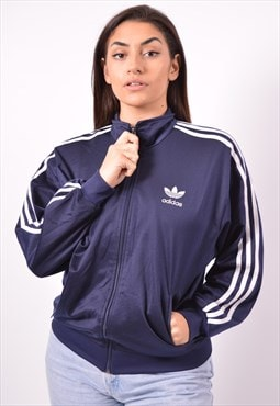 Vintage Adidas Tracksuit Top Jacket Navy Blue