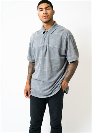 TOMMY HILFIGER GREY POLO SHIRT