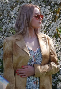 Vintage cream-brown blazer