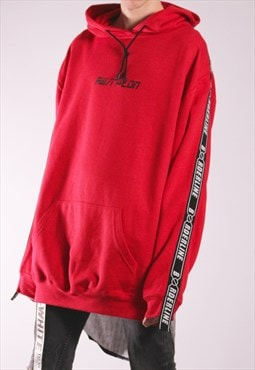 SALE Unisex long back shirt hybrid red hoodie