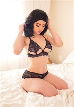 Let It Be Intimate Coconut Lace Bra Black