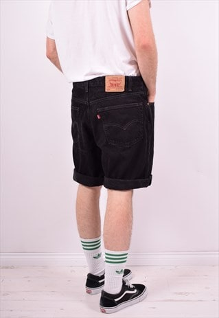 LEVI'S 550 MENS VINTAGE DENIM SHORTS W38 BLACK 90'S