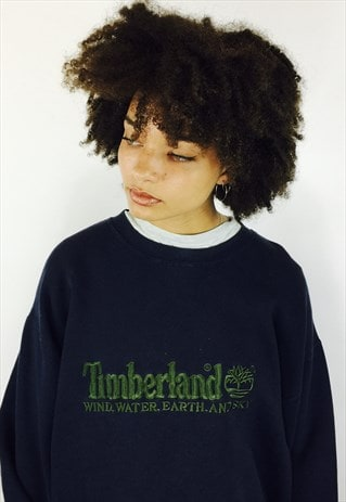 TIMBERLAND 90S EMBROIDERED BIG LOGO SWEATSHIRT
