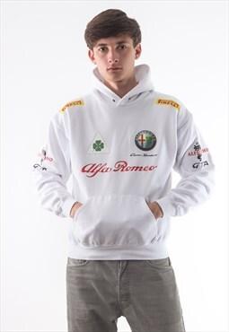 Vintage ALFA ROMEO F1 Formula 1 Hoodie White
