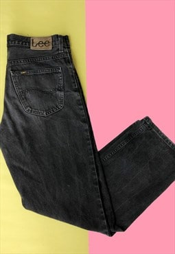 Vintage Faded Black Grey Lee Jeans
