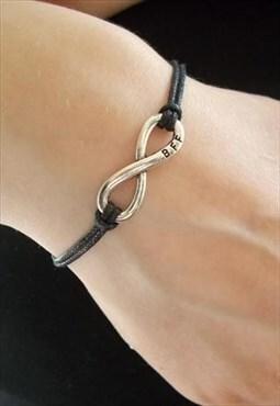 bff bracelet - black cord bracelet