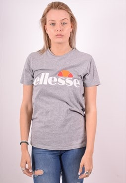 Ellesse Womens Vintage T-Shirt Top Medium Grey 90s