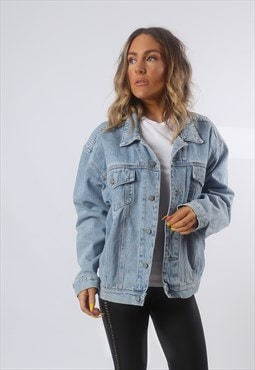 Denim Jacket Oversized Fitted Vintage UK 16 (BG2J)