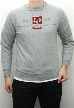 Vintage DC - Grey Crewneck Sweatshirt - Small