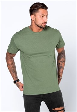 Staple Blank Plain T-Shirt - Olive Khaki Green