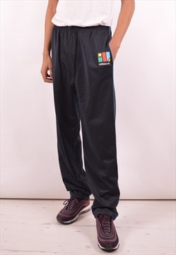 Adidas Mens Vintage Tracksuit Trousers XL Black 90s