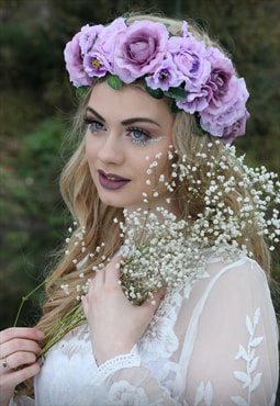 Large pastel flower headpiece