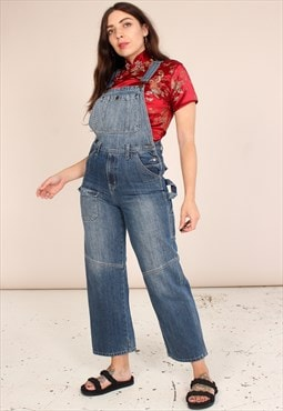 Vintage 90s Ankle Grazer Dungarees in Faded Detail