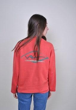 Vintage red festival sweatshirt, rave women top
