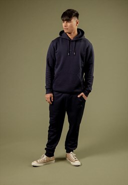 Embroidered Logo Joggers - Navy