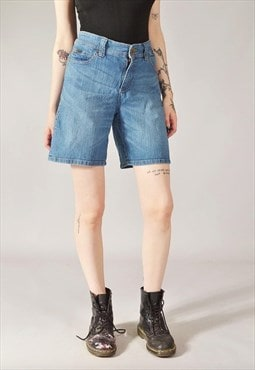 Vintage Lee Denim Bermuda Shorts Dark Blue