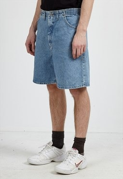 Vintage Retro Blue LEE Denim Shorts