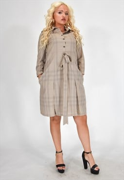 BURBERRY BRIT  Vintage Elegant Dress Brown