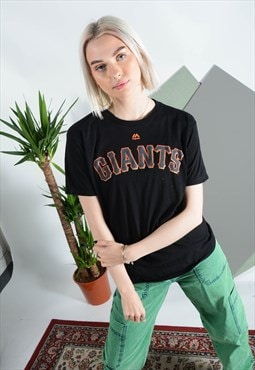 Vintage GIANTS t-shirt in black with print.