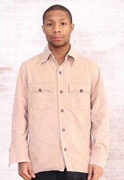 Vintage Levi's Shirt Top Beige