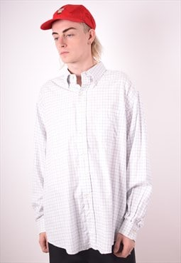 Brooks Brothers Mens Vintage Shirt XXL White Check 90s