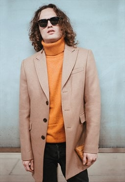Tate Wool Camel Coat