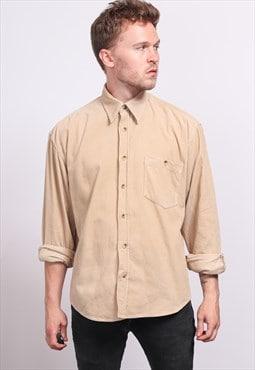 Vintage Corduroy Cord Shirt Beige