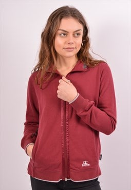 Vintage Champion Tracksuit Top Jacket Maroon